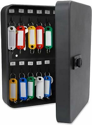 Uniclife 28 Key Security Lock Box With Combination Lock-black