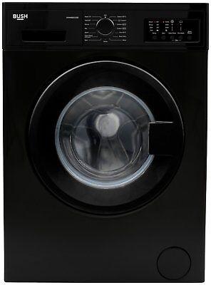 Bush WMNB912EB Free Standing 9KG 1200 Spin Washing Machine A+++ Black