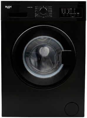 Bush WMNB712EB Free Standing 7KG 1200 Spin Washing Machine A++ Black
