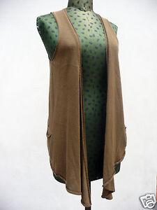 Cardigan-marrone-in-cashmere-cotone-e-seta-Made-in-Italy-brown-long-waistcoat