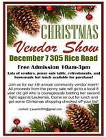 Christmas craft show / vendor event