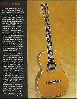 Washburn John Hancock III White Rose 1900 vintage guitar pin-up photo article