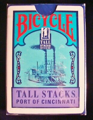 """1992 """"Tall Stacks"""" Port of Cincinnati Bicycle Playing Cards - New - Sealed"""