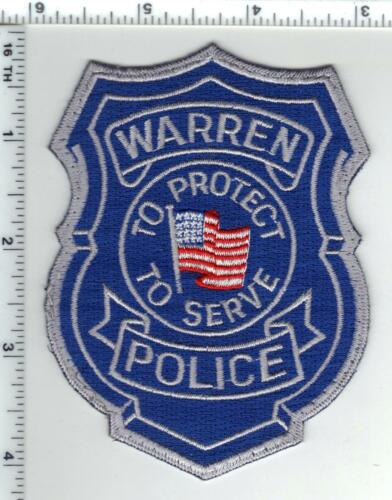 Warren Police (Michigan) Uniform Take-Off Shoulder Patch from the 1980