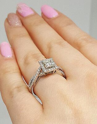 0.77 ct 14K White Gold Princess Cut Diamond Engagement Ring GIA G / VS2 5