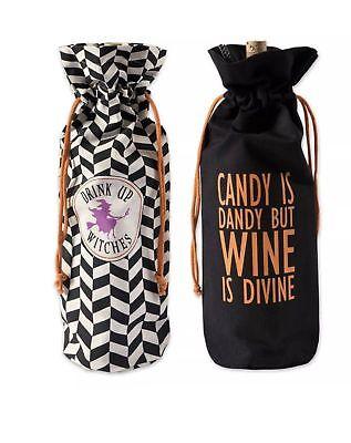 DII Cotton Halloween Reusable Drawstring Gift Bag, 6