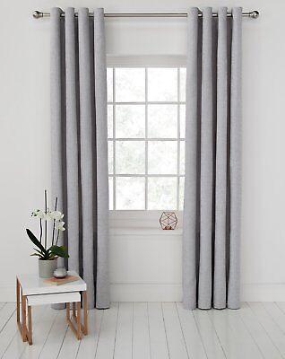 Argos Home Ribbed Lined Eyelet Curtain - 229x229cm - Grey.