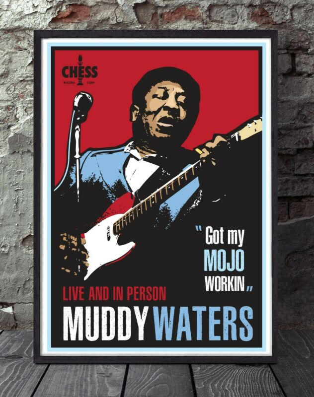 Muddy Waters blues specially designed poster print A4 size