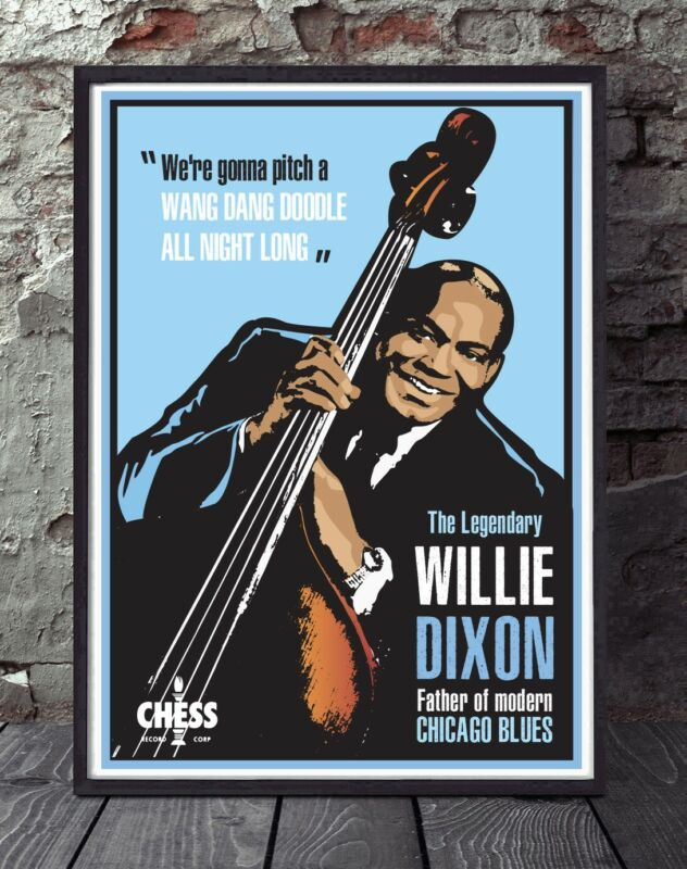 Willie Dixon chess records blues poster print