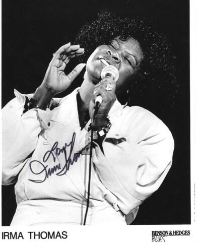 * IRMA THOMAS * signed 8x10 photo * SOUL QUEEN OF NEW ORLEANS * COA * 4