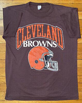 80s Tops, Shirts, T-shirts, Blouse   90s T-shirts Vintage 1980s Cleveland Browns Logo T Shirt Single Stitch Champion USA Fits M $30.00 AT vintagedancer.com