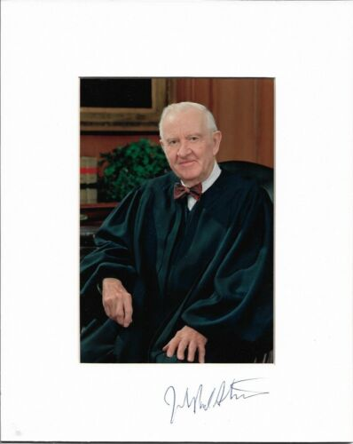 John Paul Stevens US Supreme Court Justice Signed Photograph