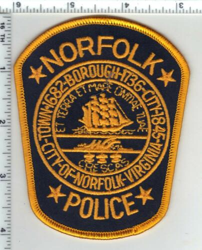 Norfolk Police (Virginia) Shoulder Patch from the 1980