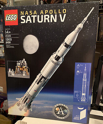 Lego Ideas 21309 NASA Saturn V Brand New and Sealed Ships Free!