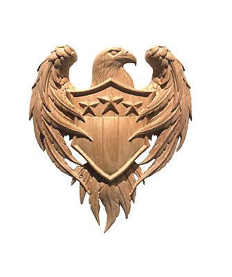American Eagle Hardwood Coat of Arms Wall Plaque American Eagle Wall Plaques