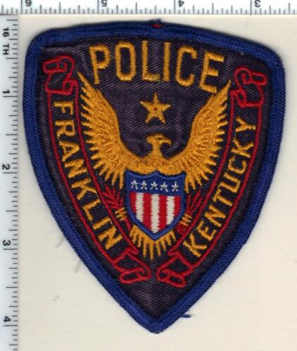 Franklin Police (Kentucky) uniform take-off patch - new from the 1980