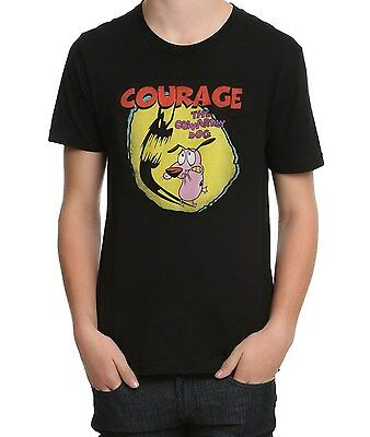 Cartoon Network Courage The Cowardly Dog Shadow T Shirt Nwt Licensed   Official