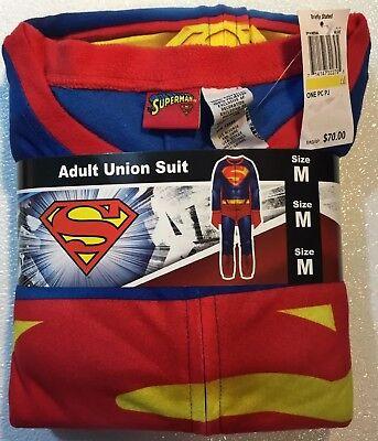 NEW Mens SUPERMAN Costume Size Medium M Adult Halloween Super Hero Suit Cape ()