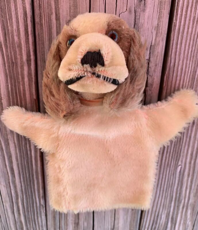 RARE 1930's STEIFF HAND PUPPET PUPPY DOG ORIGINAL W/ TAG ANTIQUE *MAKE OFFER*
