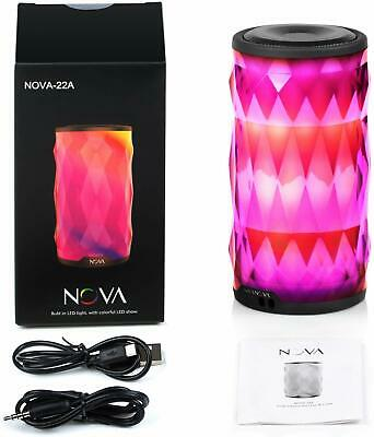 MIANOVA LED Bluetooth Speaker Night Light Wireless Portable RRP $40 #GIK