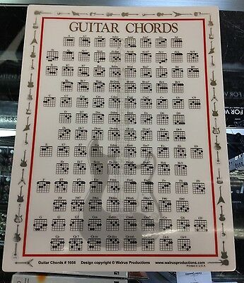 Guitar Chord Chart Portable On the Go Great For Beginners 8.5 x 11 1056