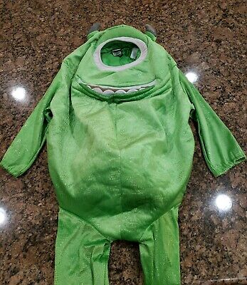 Monsters Inc Mike Wazowski Green Halloween Plush Child Costume Disney Store 4-6T