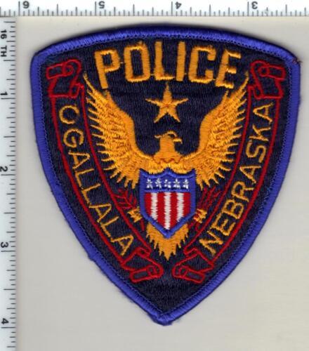 Ogallala Police (Nebraska) Uniform Take-Off Shoulder Patch from 1989