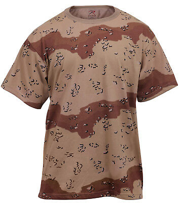 t-shirt desert camo cotton poly blend camouflage rothco 6767