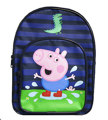 Peppa Pig George Dino 'Puddle' School Bag Rucksack Backpack Brand New Gift