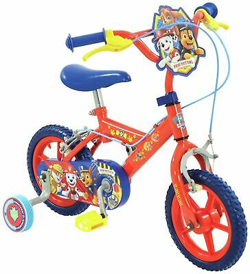 BOYS GIRLS 12 INCH RED PAW PATROL BIKE AGES 2 UP STABILISERS FREE POST RRP £99,