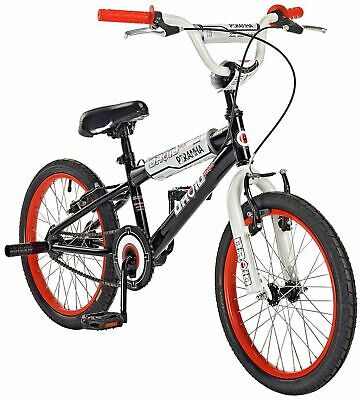 """BOYS 18"""" PIRANAH DROID BMX BLACK WHITE AND RED FOR AGES 5 UPWARDS FREE POST"""
