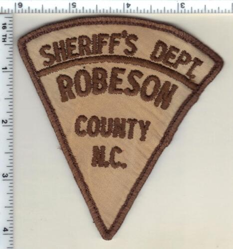 Robeson County Sheriff (North Carolina) Uniform Take-Off Shoulder Patch 1987
