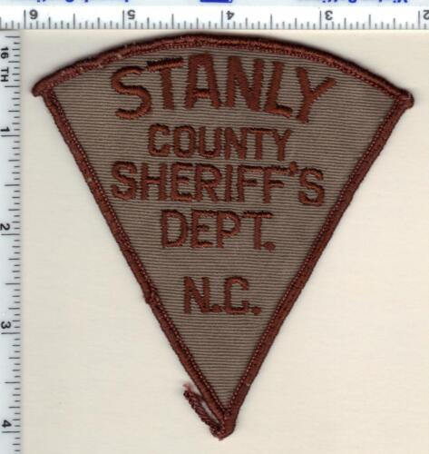 Stanly County Sheriff (North Carolina) Uniform Take-Off Shoulder Patch from 1987