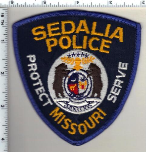 Sedalia Police (Missouri) Uniform Take-Off Shoulder Patch from 1991