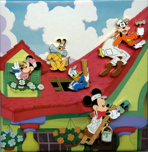 Disney Catalog Home Helpers Pluto Mickey Minnie Goofy Donald Boxed LE Pin Set