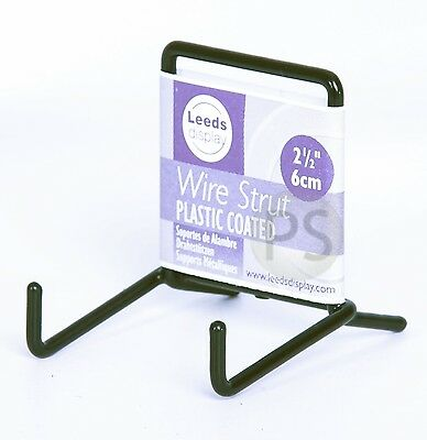 "Black Wire MINI Plate Picture Stand 5cm 2"" : Leeds Display Strut ST01BL NEW"