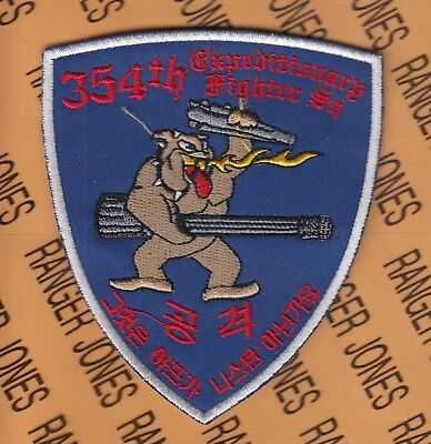 """USAF Air Force 354th Expeditionary Fighter Squadron EFS BULLDOGS 4.25"""" patch"""