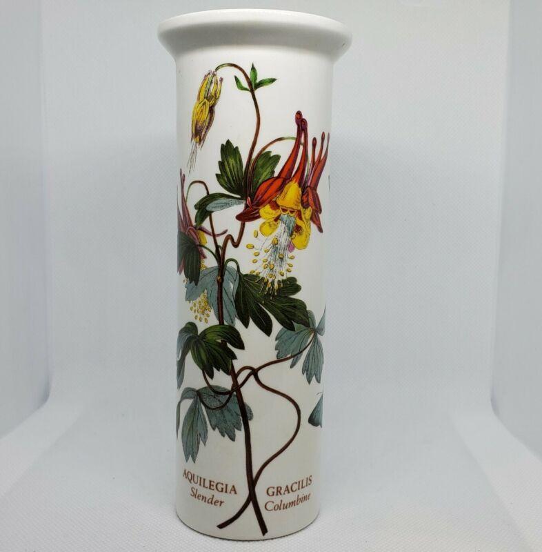Portmeirion The Botanic Garden Ceramic Vase Slender Columbine Aquilegia Gracilis