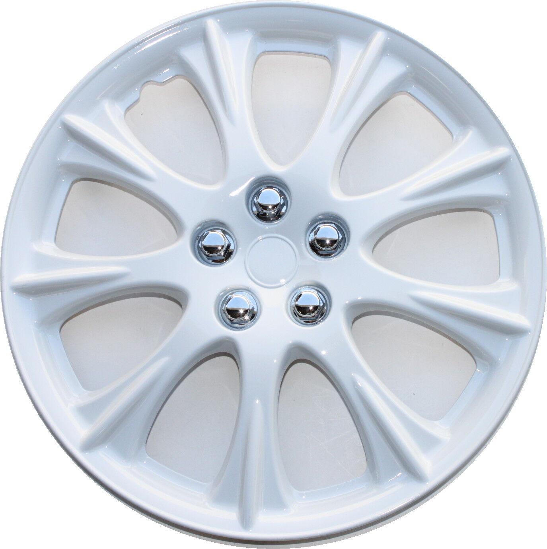 1 Piece 15 White Hubcap Universal Wheel Cover Fits Most 15 Rims Hub Cap