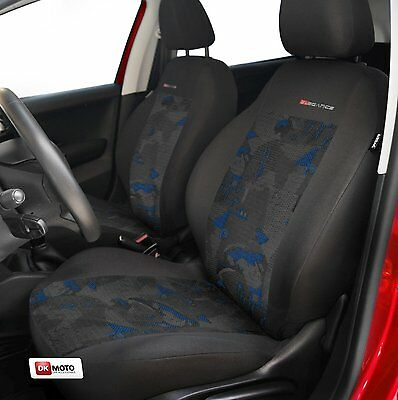 2 X CAR SEAT COVERS for front seats fit  Citroen Saxo  charcoal/blue