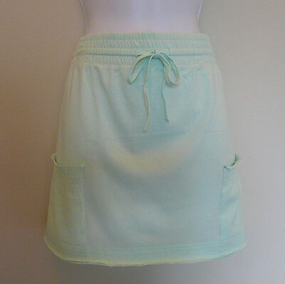 NEW F&F PALE MINT GREEN COTTON HOLIDAY MINI SKIRT BEACH COVER UP SIZE 10 12 S