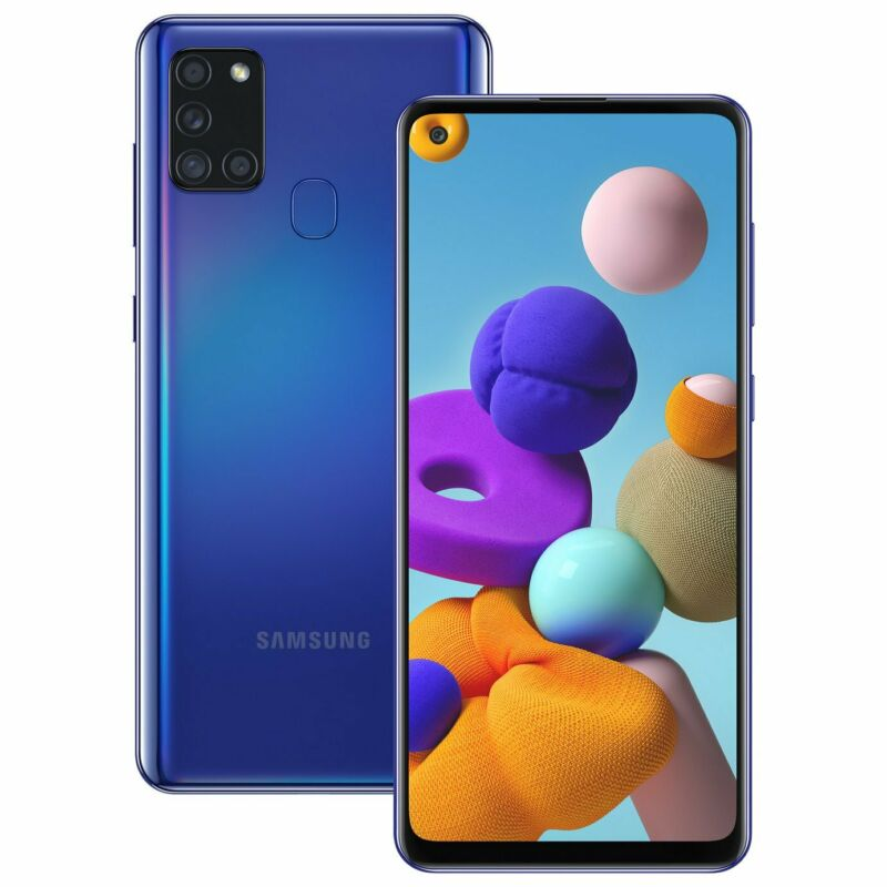 Android Phone - SIM Free Samsung A21s 6.5 Inch 3GB 48MP 4G Android Dual Sim Mobile Phone - Blue
