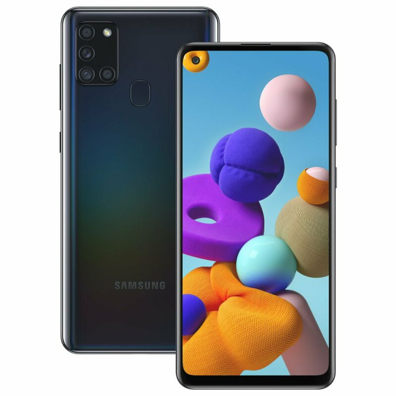 Android Phone - SIM Free Samsung A21s 6.5 Inch 32GB 48MP 4G Android Dual Sim Mobile Phone- Black