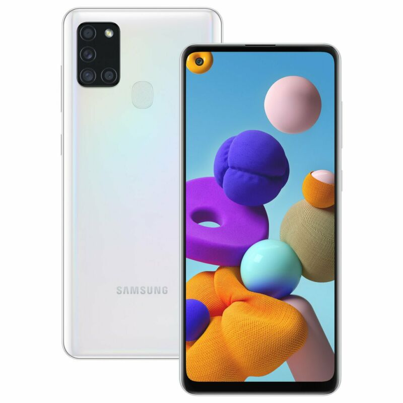 Android Phone - SIM Free Samsung A21s 6.5 Inch 3GB 48MP 4G Android Dual Sim Mobile Phone - White