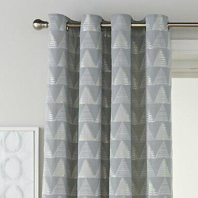 Argos Home Stockholm Jacquard Eyelet Curtain - 168x183cm - Geometric