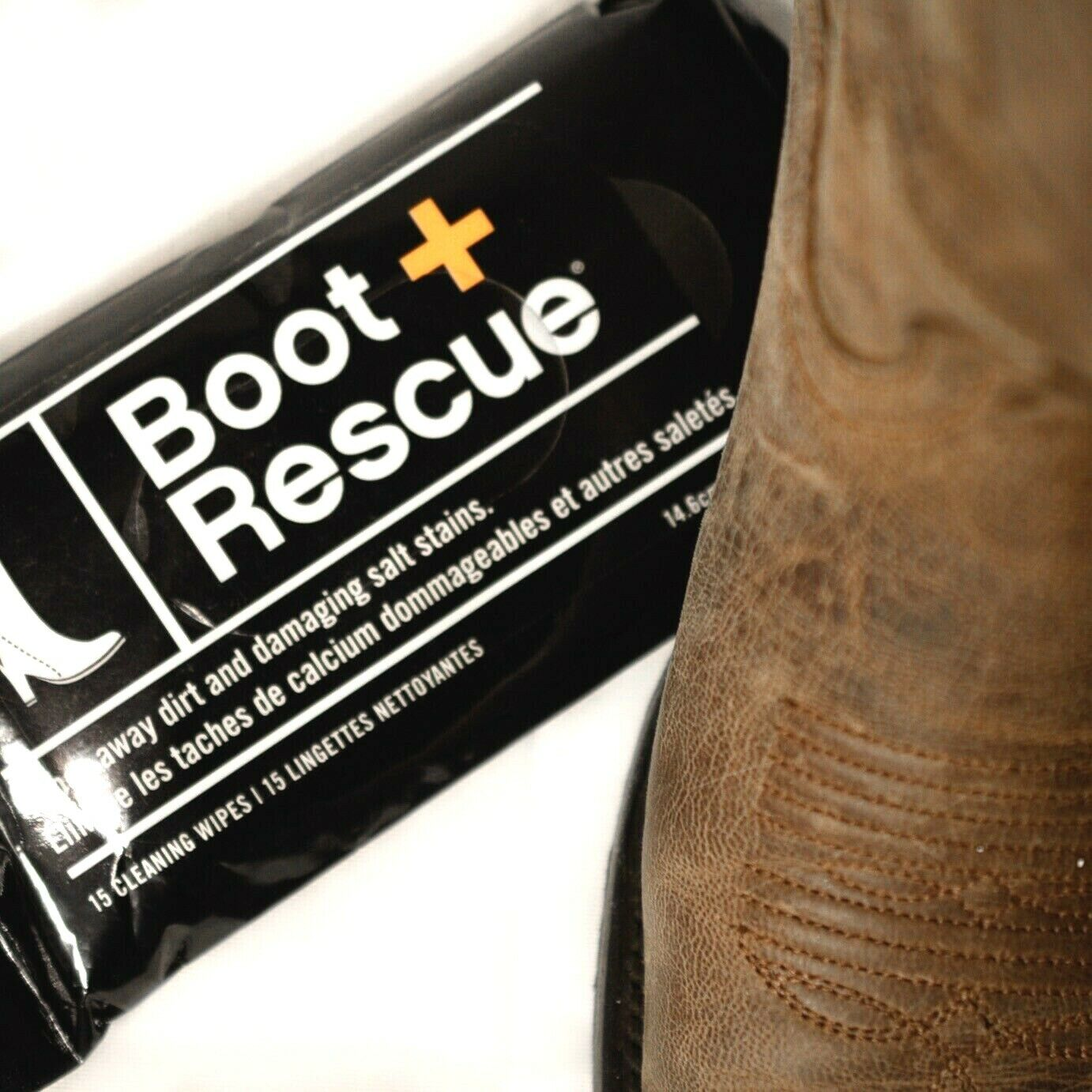 Boot Rescue Wipes fifteen all-natural, disposable Use on any shoes 15 Wipes NIB Clothing & Shoe Care