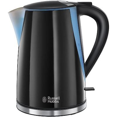 Russell Hobbs Mode Electric Jug Kettle 1.7L 3000W LED Illuminated - 21400, Black