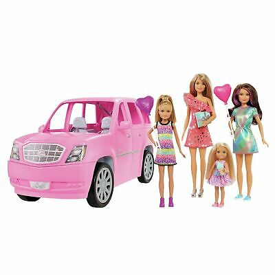 Barbie Limo with 4 Dolls & Accessories