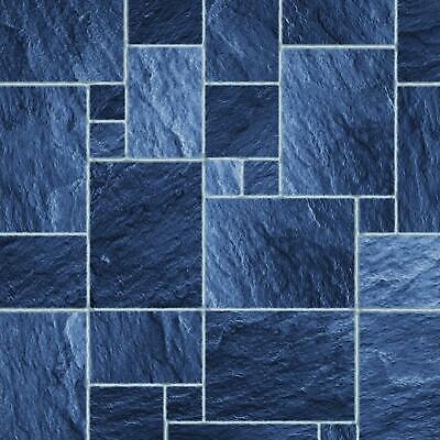 Puppenhaus Blau Auf Blau Fliesen Effekt Papier