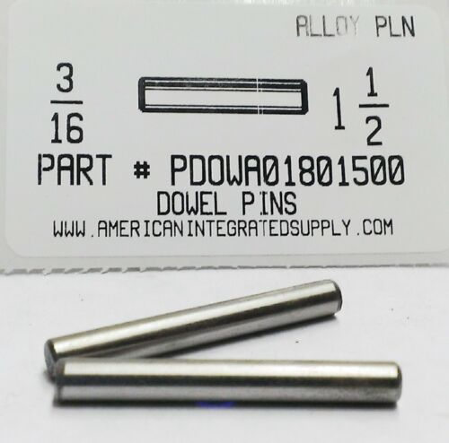 3/16X1-1/2 DOWEL PIN ALLOY STEEL PLAIN (10)